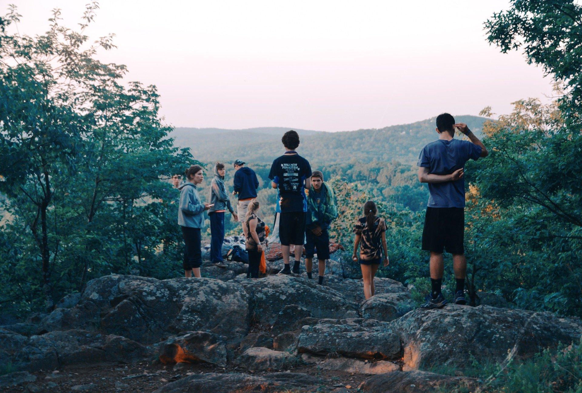 amis vacance en montagne